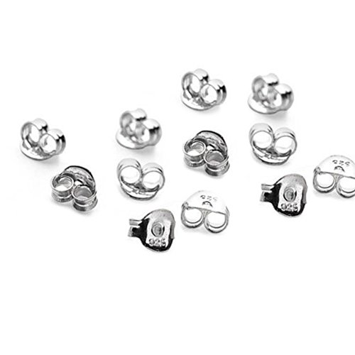 15 x paia (30) in argento Sterling farfalla orecchini Backs Scrolls Push Fit 925 (5,5 x 3 mm)