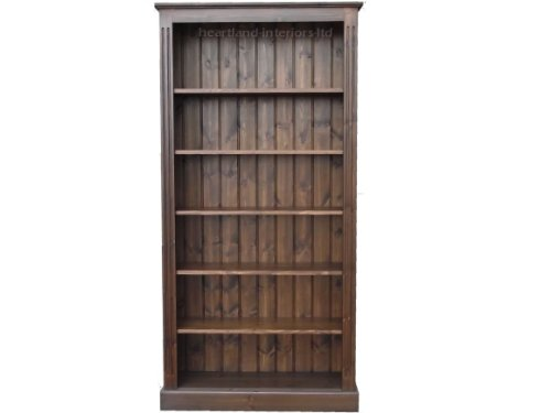 Affordable Solid Pine Bookcase, 6ft x 3ft Handcrafted & Waxed Adjustable Display Shelving Unit, Bookshelves in Dark Oak. No flat packs No assembly, Choice of Colours (BK23) Review