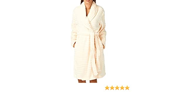 Lepel Tiger Hush Long Robe Small Cream  Amazon.co.uk  Clothing 92c89095b