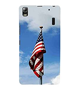 For Lenovo K3 Note :: Lenovo A7000 Turbo Cloud, Blue, Flag, Amazing Pattern, Printed Designer Back Case Cover By CHAPLOOS