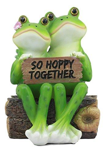 Log-pool (Ebros Romantische Hochzeit Frosch Paar sitzend auf Holz Log StatueSo Hoppy Together Frosch Collectible Figur Lovers Eternal Happiness Skulptur Perfekt für Brautschmuck Jahrestag Valentinstag)