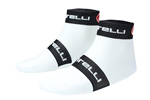 Castelli Socken Free 6–Weiß/Schwarz–XXL