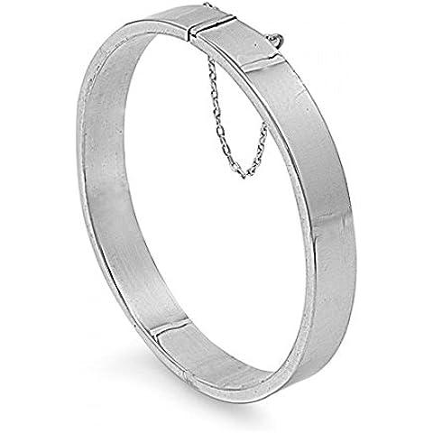 925 Sterling Silver 9x60x65 MM ovale Forma rettangolare tubo BRACCIALI