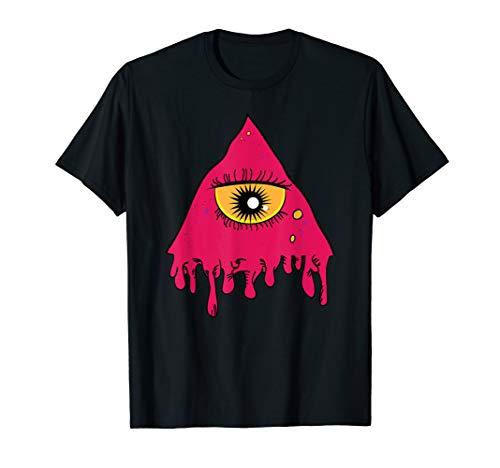 Scary Einzigartiges Halloween-EDM-Design T-Shirt ()