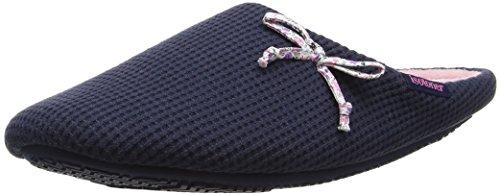 isotoner-damen-waffle-mule-slipper-pantoffeln-blau-marineblau-40-eu