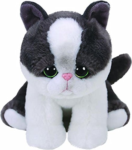 Ty- Yang, Katze Schwarz/weiß 15cm Babies Peluche Gato, Color Blanco (United Labels Ibérica 42273TY)