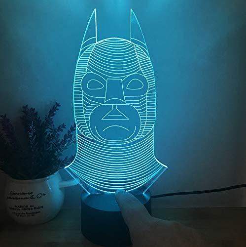 Luz nocturna de la ilusión 3D, luz LED de cambio de color de PUBG Jedi survival 3D luz 7, estilo D