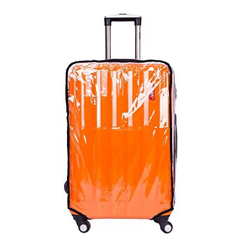 """CSTOM® PVC Trasparente Fodera Cover Protettiva per Valigia Bagaglio 26"""" (45cm L x 30cm W x 62-66cm H) 600021-26N"""