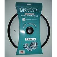 Distribuidora Ersa Tapa Cristal, Vidrio, Transparente, 28 cm
