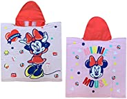 GLOBAL LICENCE SRL Poncho Mare Minnie Mouse Disney Asciugamano Accappatoio MICROCOTONE CM110X55 100%PL - MIN15