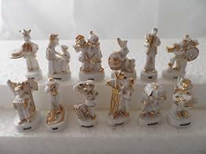 Fève des rois collection Les Mois de l'Année Prestige Blanc Filet Or (Rarissime) + 1 série complète surprise offerte + 1 couronne fantaisie offerte
