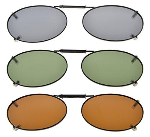 Eyekepper Grau/Braun / G15 Objektiv 3-pack Clip-on Polarisierte Sonnenbrille 43x30MM Grau Linse