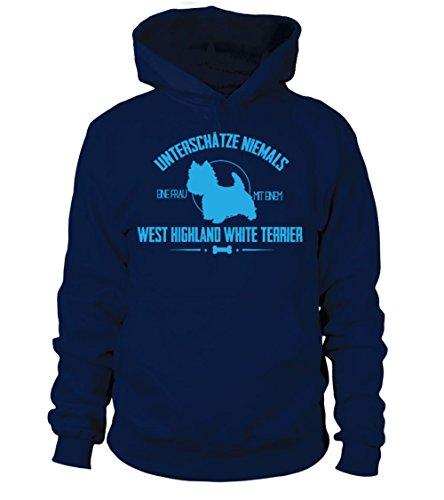 teezily West Highland White Terrier Shirt/Geschenke/Lustig/Pulli/Jacke//Geschenk - Männer Frauen Kapuzenpull (Sweatshirt West Highland Terrier)