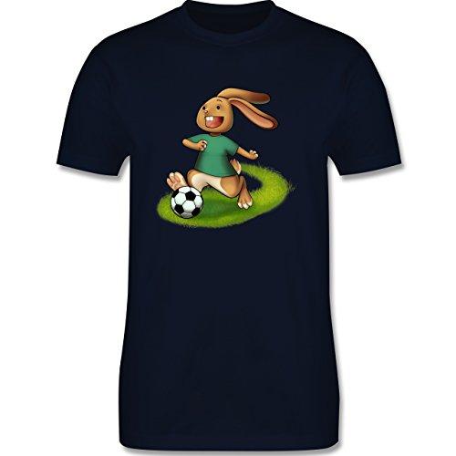 Fußball - Fußball Hase - Herren Premium T-Shirt Navy Blau