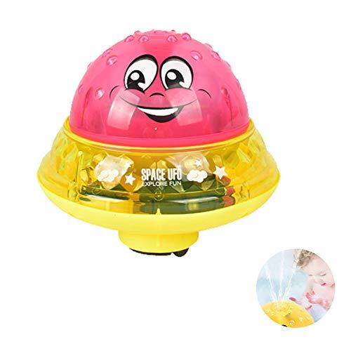 LONYAN Kinder elektrische Induktion Sprinkler Spielzeug, Bad Spielzeug automatische Induktion Spray Land und Wasser Universal-Spielzeug mit Universal-Basis,red+Yellow - 690 Bad