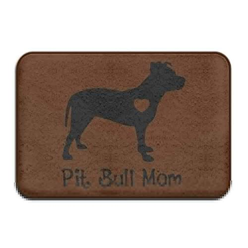 Bikofhd Indoor/Outdoor Natural Easy Clean Doormat Pit Bull Mom Non-Slip Outside/Inside Floor Mat Health Wellness Bathroom Bathroom Doormat 23.6