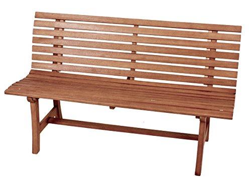 VARILANDO Parkbank aus geöltem Eukalyptus als 3-Sitzer Gartenbank Sitzbank Holzbank