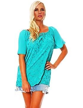 ZARMEXX Fashion - Camisas - Túnica - Básico - Cuello redondo - para mujer