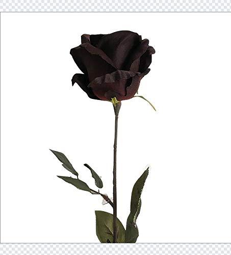Wulihong-fiore artificiale ampia rosa nera singolo ramo di seta fiori artificiali gambo lungo australia rose fiori finti per hotel decorazione di cerimonia nuziale flores