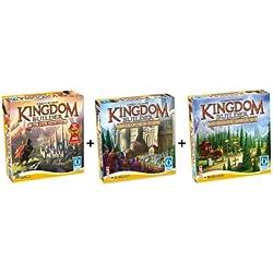 Queen Games 61132 - Kingdom Builder Deluxe Bundle: Basisspiel mit Erweiterung 1 und 2 - Spiel des Jahres 2012 Kingdom Builder