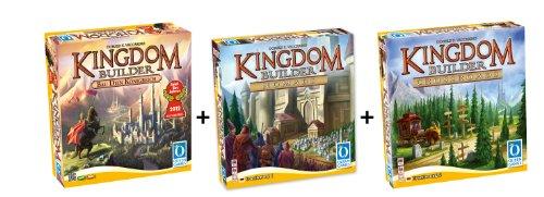 Preisvergleich Produktbild Queen Games 61132 - Kingdom Builder Deluxe Bundle: Basisspiel mit Erweiterung 1 und 2 - Spiel des Jahres 2012