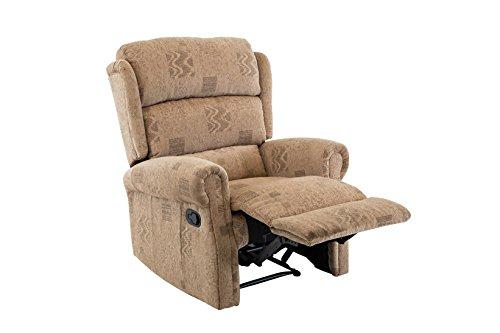 Birlea Manhattan Recliner Chair - Fabric, Single, Wheat
