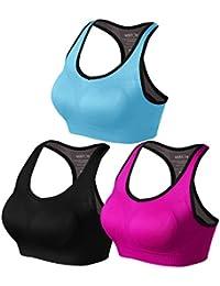 Match Mujer Sujetador Deportivo Racerback de Doble Capa Con Relleno Sin Costura Sin Aros para Yoga Gimnasio Aptitud Fitness #001