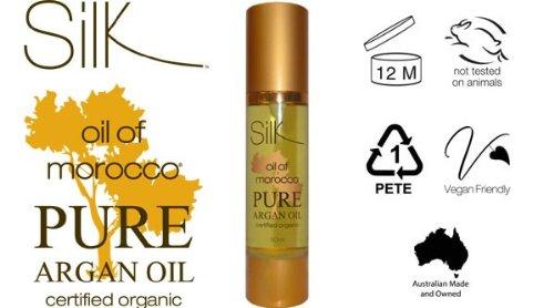 Silk Oil of Morocco Pure Huile d'argan 30 ml pour cheveux et la peau