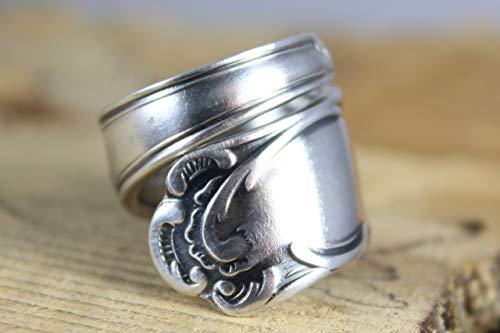 Rokoko Besteckschmuck Ring, ca. 57 (18,2) Ring aus Besteck