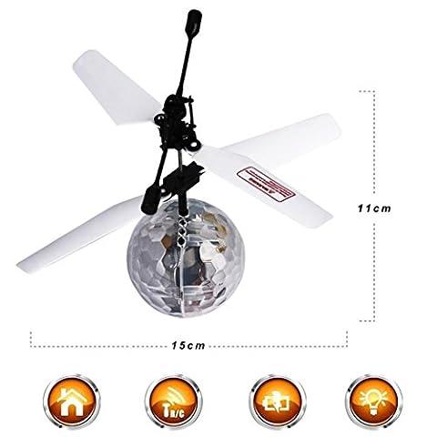 Ularma RC Flying Ball RC Drone Hélicoptère Ball Fonction intégrée Disco Musique Avec Shinning LED