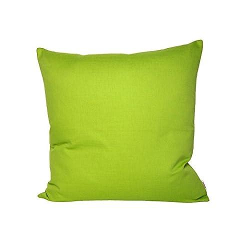 beties Farbenspiel Kissenhülle ca. 40x40 cm in interessanter Größen- und Farbauswahl 100% Baumwolle für eine fröhlich Stimmung Uni Farbe (apfelgrün)