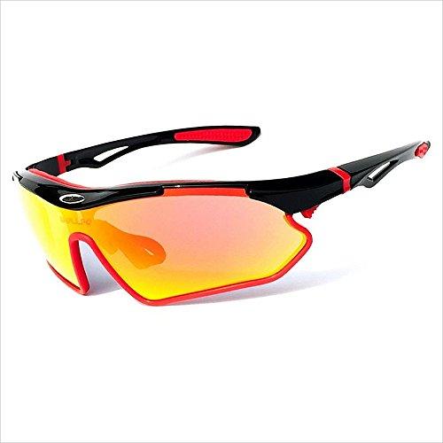 Doxtecret Herren polarisierte Brille, stilvolle Radbrille, UV-Schutz, komfortable Hand, Strahlenschutz, geeignet für Damen/Herren Niemals Enden (Farbe : C3)