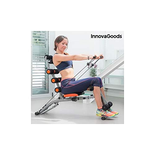 InnovaGoods IG115519 Banco de Musculación, Unisex Adulto, Negro, Talla Única