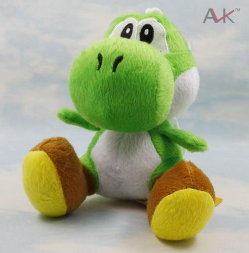 6'Super Mario Bros peluche figura juguete de peluche sentado Yoshi verde