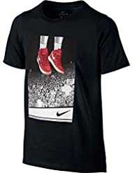 Nike B Nk Dry Tee Ss Liftoff Camiseta de Manga Corta de Baloncesto, Niños, Negro, L