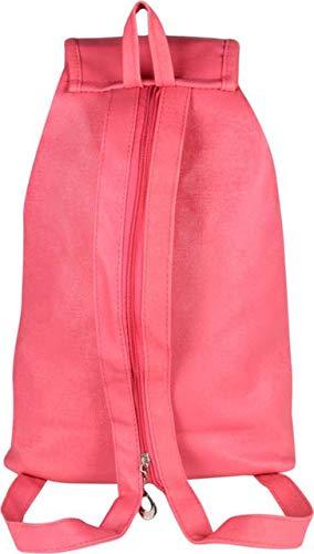 SK NOOR Fashion Women's PU Faux Fur Hand Bag Backpack (Pink) Image 3