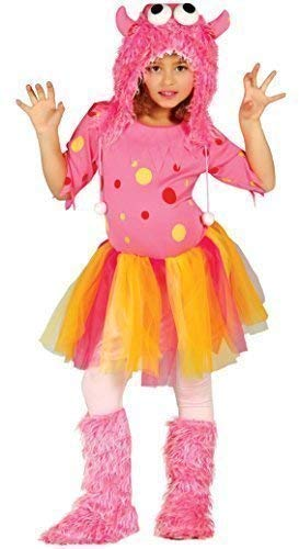 Fancy Me Mädchen-lila Rosa oder Blau Halloween Monster Kostüm Kleid Outfit 3-12 Jahre - Rosa, 10-12 years