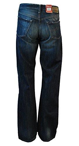 Destroyed Herren Paint Used-Look Blue Blau Jeanshose Hose Denim Chino A16