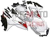 LoveMoto Verkleidung für GSX-R600 GSX-R750 K8 2008 2009 2010 08 09 10 GSXR 600 750 ABS Spritzguss Kunststoff-Motorradverkleidung-Sets Weiß Silber