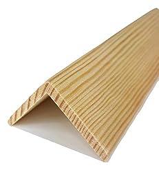 2.4 MTR Corner Pine Moulding End Cap Wood Trim Timber Edging Beading TMW Profiles (Pine Wood, 30x30 mm)