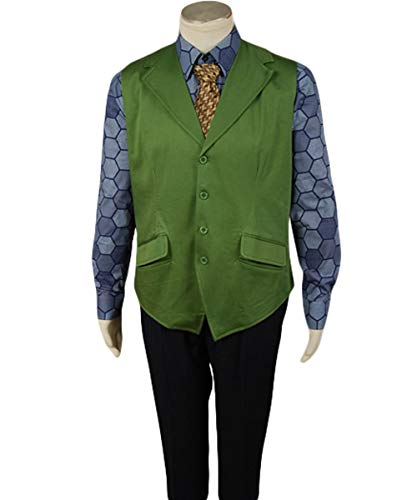 Dark Knight Kostüm Männer - MingoTor Superheld Hexagon Shirt + Vest
