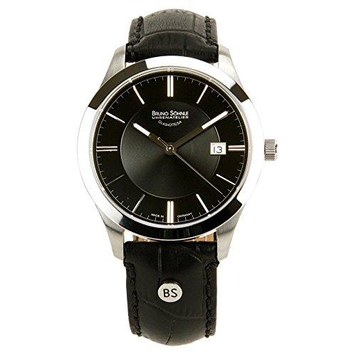 Bruno Söhnle Herren Analog Quarz Uhr mit Leder Armband 17-13153-741