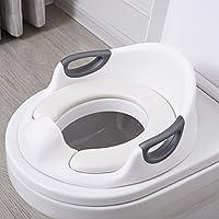 Aerobath Réducteur de Toilette, Siège De Toilette Pour Bébé Avec Coussin Poignée Dossier, Protection contre les éclaboussures, Conception Antidérapants, Réducteur de WC ergonomique