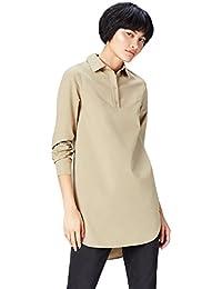 Marchio Amazon - find. Camicia Lunga Donna in Cotone