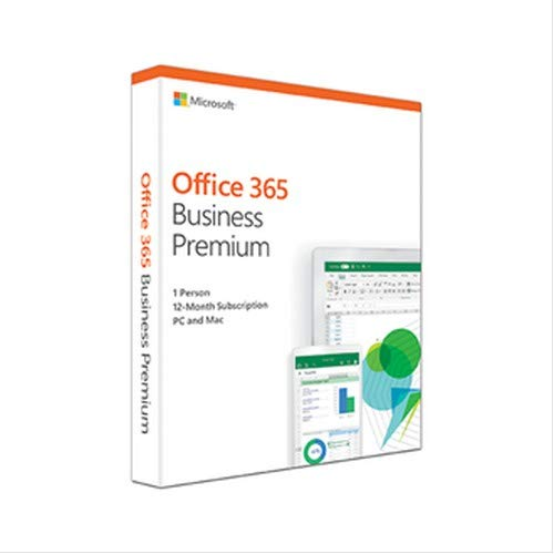 Microsoft Office 365 Business Premium |1 Person | 12-Month Subscription (Activation Key Card)
