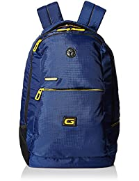 Gear 30 LTR Casual Backpack (BKP0SPAC40512, Navy Blue and Yellow)