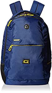 Gear 30 ltr Navy Blue and Yellow Casual Backpack (BKP0SPAC40512)