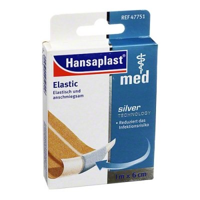 Hansaplast Med Elastic 1 m x 6 cm Pflaster, 1 St.