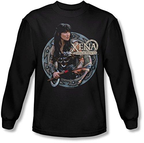 Xena: Warrior Princess - - Herren Der Krieger Langarm-Shirt in Schwarz Black