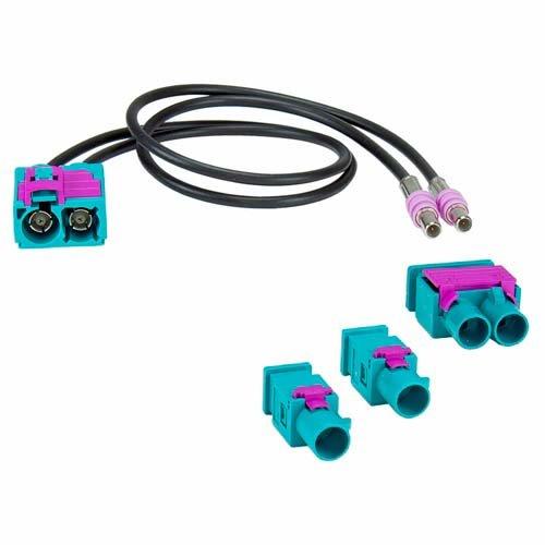 ACV 1524-25 Antennenadapter Set Doppel-FAKRA (w) > 1x Doppel/2x Einzel Mehrfarbig - Doppel-antennen-adapter